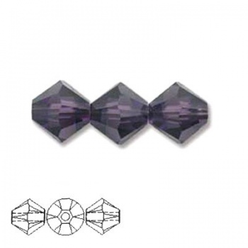 Bicono Swarovski  Purple Velvet 3mm