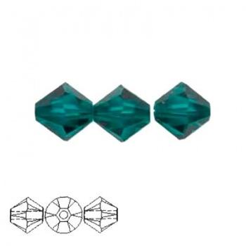 Bicono Swarovski  Emerald 3mm