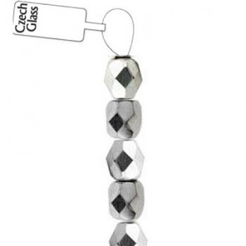 Mezzi Cristalli Preciosa Crystal Silver 6mm