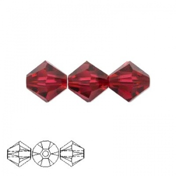 Bicono Swarovski Ruby 4mm