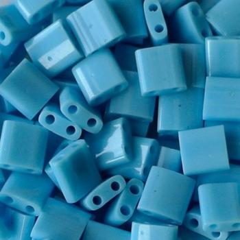 Perline Tila Miyuki Opaque Turquoise Blue 5mm