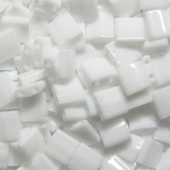 Perline Tila MIyuki Opaque White 5mm