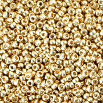 Perline Rocailles Miyuki 15/0 Galvanized Gold