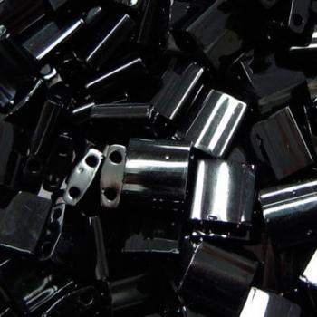 Perline Tila Miyuki Black 5mm
