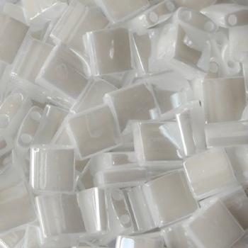 Perline Tila Miyuki White Pearl 5mm