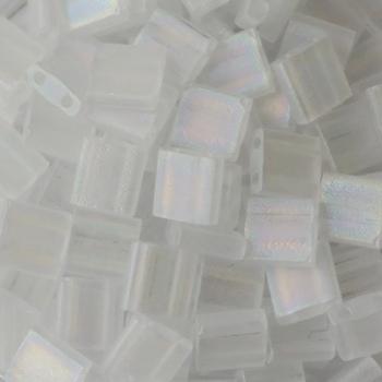 Perline Tila Miyuki Matte Transparent Crystal AB 5mm