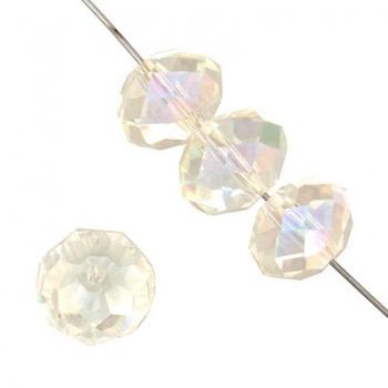 Rondella Cinese Glass 6x4mm Crystal AB