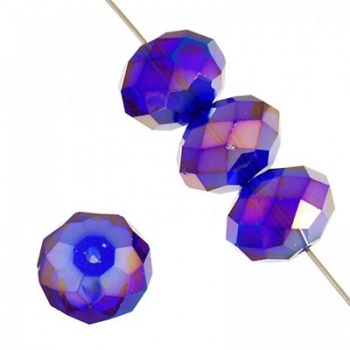 Rondella Cinese Glass 6x4mm Cobalt AB