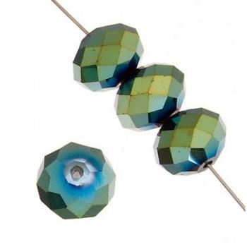 Rondella Cinese Glass 6x4mm Metallic Pyrite