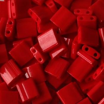 Perline Tila MIyuki Opaque Red 5mm
