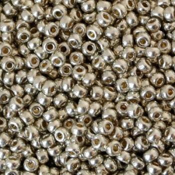 Perline Rocailles Miyuki 8/0 Duracoat Galvanized Silver