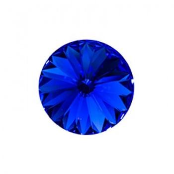 Rivoli Swarovski (1122) Sapphire Con Foiled 12mm