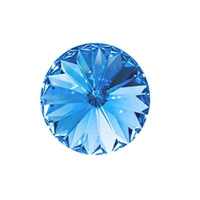 Rivoli Swarovski (1122) Light Sapphire Con Foiled 12mm