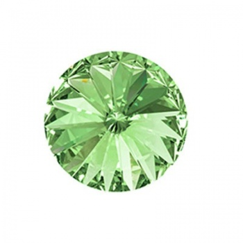 Rivoli Swarovski (1122)   Chrysolite Con Foiled 14mm