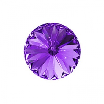 Rivoli Swarovski (1122) Tanzanite Con Foiled 12mm