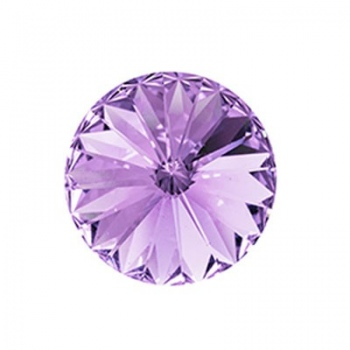 Rivoli Swarovski (1122) Violet Con Foiled 12mm