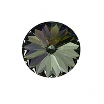 Rivoli Swarovski (1122)  Black Diamond Con Foiled 12mm