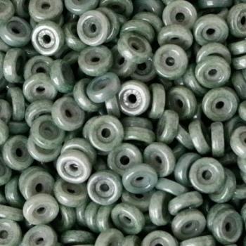 Perline Wheel-Green Luster-6mm