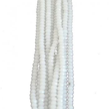 Rondella Cinese Glass 3x2mm White Opal