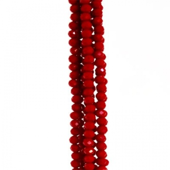 Rondella Cinese Glass 3x2mm Opaque Red