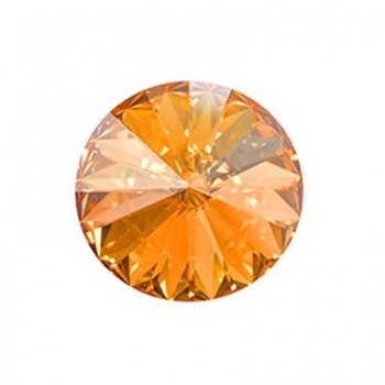 Rivoli Swarovski (1122) Crystal Golden Shadow Con Foiled 14mm