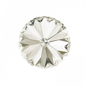 Rivoli Swarovski (1122) Crystal Silver Shade Con Foiled 14mm