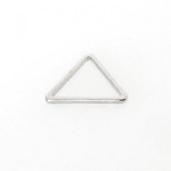 Componente Link Triangolo Argentato Rodio 15mm