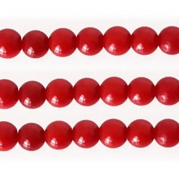 Corallo Bambù Rosso Tondo Liscio 4mm