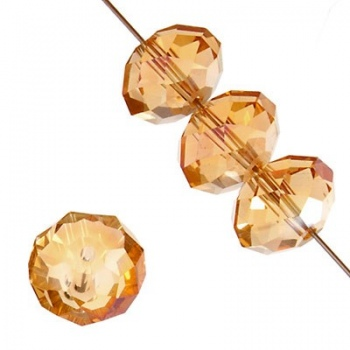 Rondella Cinese Glass 6x4mm Champagne AB