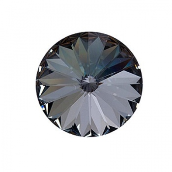 Rivoli Swarovski (1122) Crystal Silver Night Con Foiled 18mm