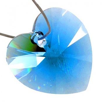Cuore Swarovski (6228) Light Sapphire 28mm