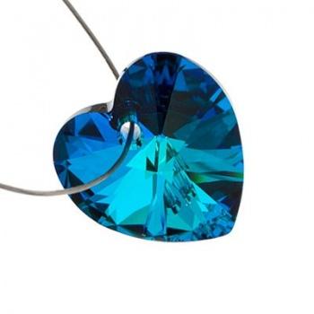 Cuore Swarovski (6228) Crystal Bermuda Blue 14mm