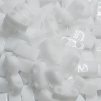 Perline Miyuki Half Tila 5x2,3mm Opaque White