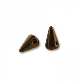 Perline Spikes Jet Bronze 8x5mm