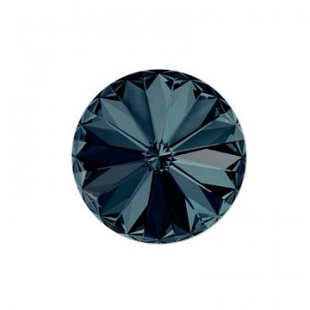 Rivoli Swarovski (1122) Graphite Con Foiled 14mm