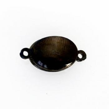 Chiusura Magnetica Ovale Palladio Nero 20mm