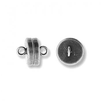Chiusura Magnetica Tonda Argentata Anticata 8mm