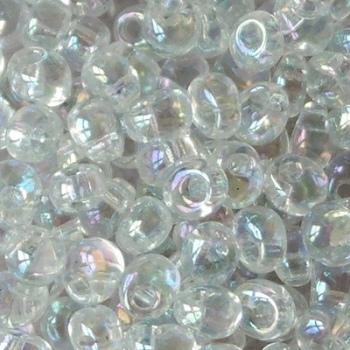 Perline Miyuki Magatama 4mm  Transparent Crystal AB