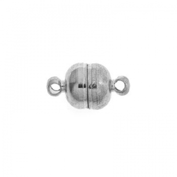 Chiusura Magnetica Argentata Rodiata 11mm