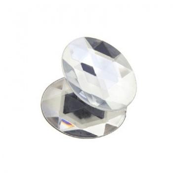 Cabochon Acrilico Ovale Sfaccettato Crystal 18x13mm