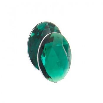 Cabochon Acrilico Ovale Sfaccettato Emerald Green 18x13mm