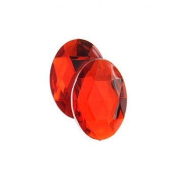Cabochon Acrilico Ovale Sfaccettato Bright Red 18x13mm