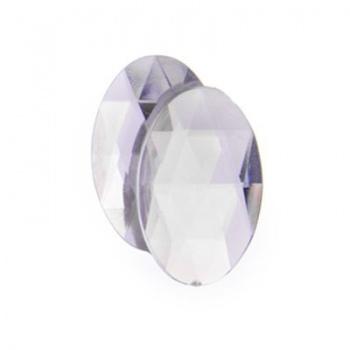 Cabochon Acrilico Ovale Sfaccettato Crystal 25x18mm