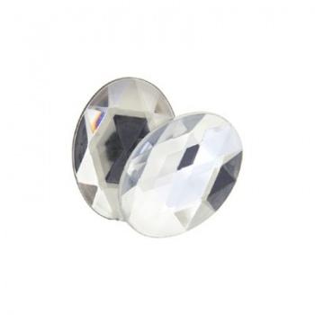 Cabochon Acrilico Ovale Sfaccettato Crystal 14x10mm