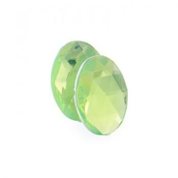 Cabochon Acrilico Ovale Sfaccettato Lime Green 14x10mm