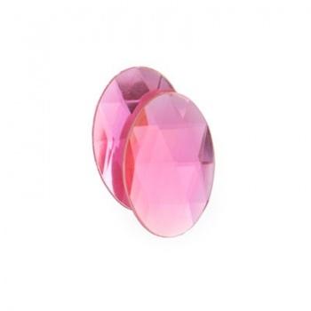 Cabochon Acrilico Ovale Sfaccettato Light Pink 14x10mm