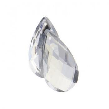 Sew-On Goccia Acrilico Sfaccettata Crystal 30x17mm