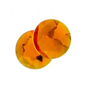 Cabochon Acrilico Tondo Sfaccettato Marigold 14mm