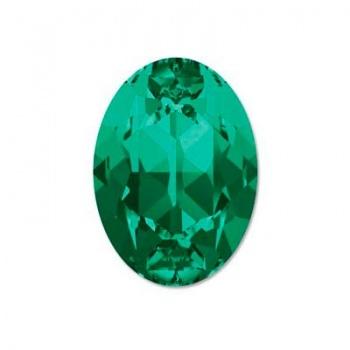 Cabochon Ovale Swarovski (4120) 18x13mm Emerald