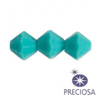 Bicono Preciosa  Turquoise 4mm